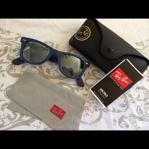 Purple grey ray ban sunglasses