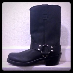 Frye Boots - ✨NEW Genuine Black Leather Motorcycle Boots✨