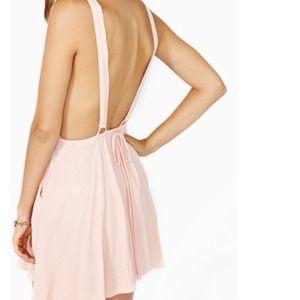 Nasty gal pink suspender dress