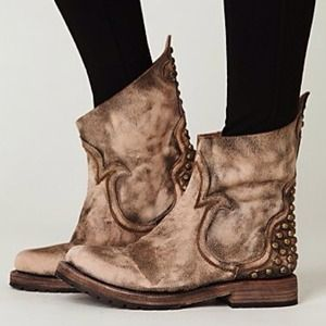 Freebird for Free People Haven Distressed Boot NEW