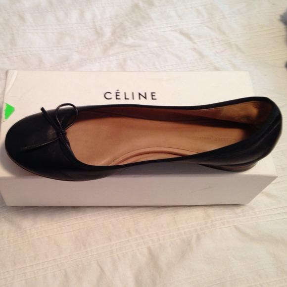 e35d590339a Celine Shoes - Black Celine ballet flats