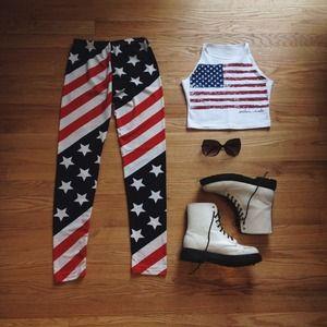 REDUCED ❗️ American Flag Leggings