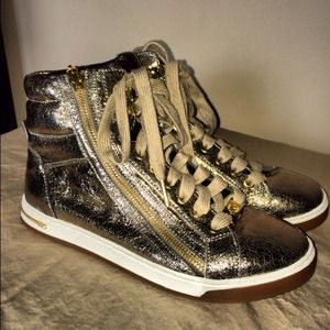 ❌SOLD ON EBAY❌Michael Kors Gold High top sneakers