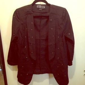 black studded blazer