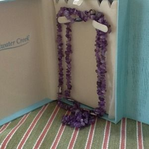 FLASH SALE! Beautiful genuine Amethyst necklace