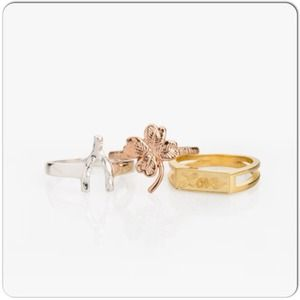 jewelmint Jewelry - JewelMint Mixed Metal Stackable Rings