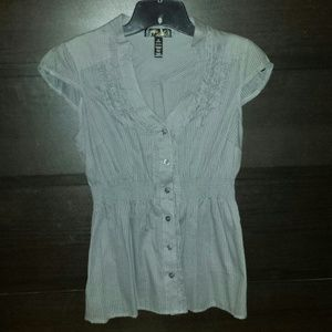 Tops - Grey button down