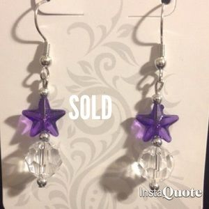 Jewelry - Purple star earrings!