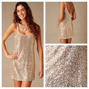 ⚡️SALE⚡️ Free People Gold Sequin Dress