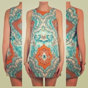 Dresses & Skirts - NEW Mint Orange Blue Bohemian Dress