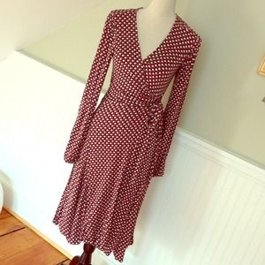 Mad Men style Polka dot wrap dress