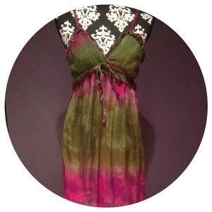 Dresses & Skirts - Tie Dye Boho Maxi Dress