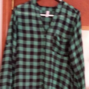 exhilaration Tops - Checkered shirt