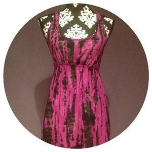 Dresses & Skirts - Purple & Black Tie Dye Chiffon Dress