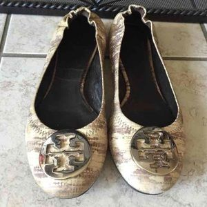 Tory Burch Python Reva flats. Reduced!