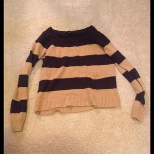 kind of cropped striped sweater