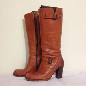 Frye Boots - FRYE Julia Boots Cognac Leather