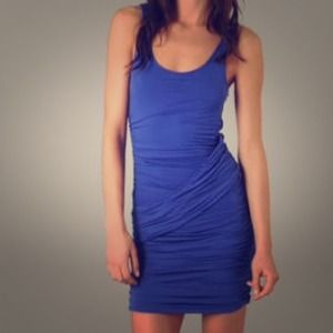 Velvet Dresses & Skirts - Cobalt Blue Stretch Jersey Dress by Velvet