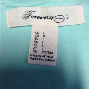 28d5e8fb044410 Forever 21 Tops   Sold On Vintedmint Lace Crop Top   Poshmark