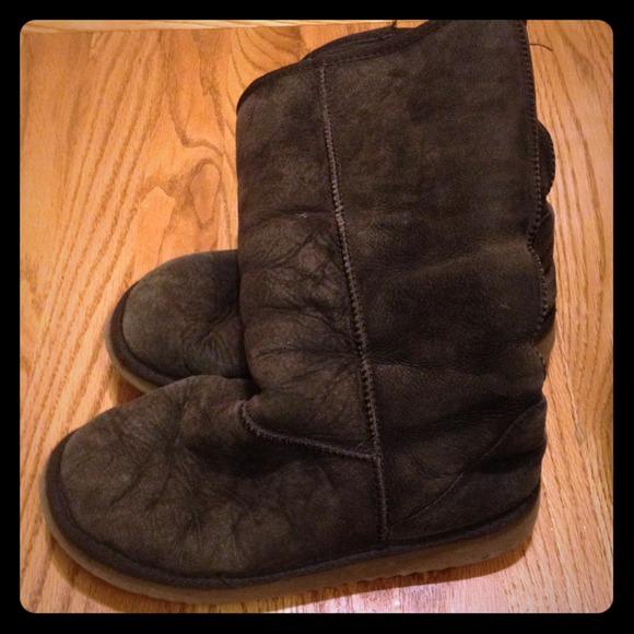 Dark Brown Kirkland UGG Style Boots
