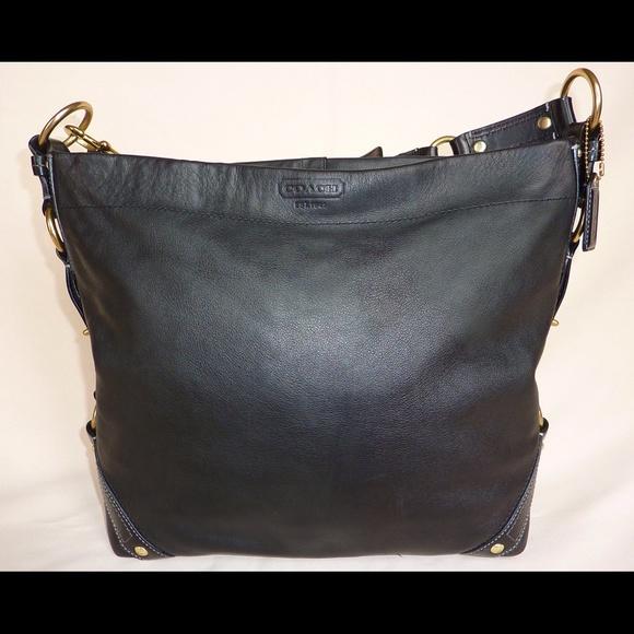 Coach Bags   Carly Handbag Black Leather Large Brass Gold   Poshmark 7d9917b56a