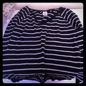 Pink by victorias secret striped long sleeve
