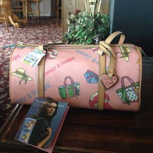 Dooney & Bourke pink Miami barrel bag. Brand new