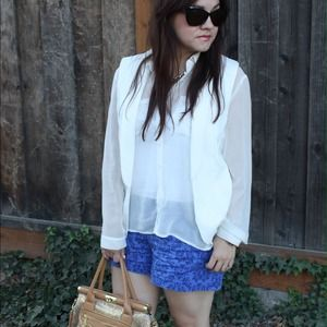 GAP Pants - Printed Blue Shorts