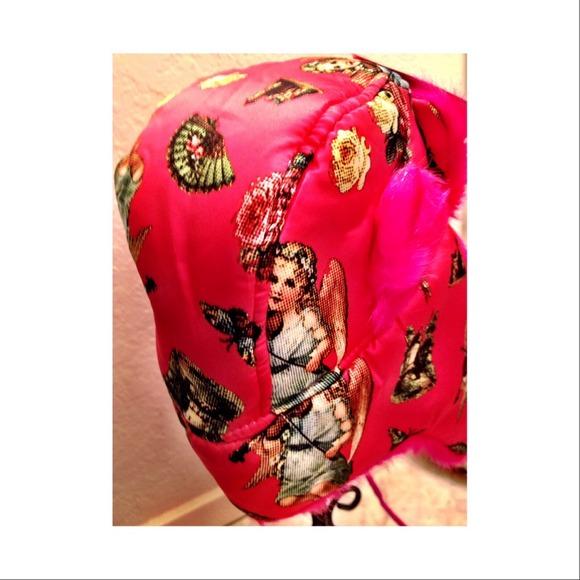 7abc15f8c69b5 Betsey Johnson Angel Puff Trapper Hat!