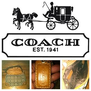 Authentic Coach Leather Bag
