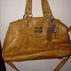 Coach leather satchel-tan