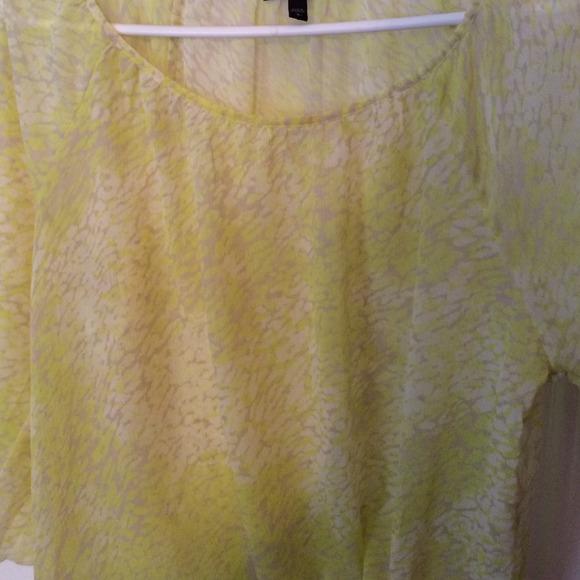 Yellow Sheer Blouse 113
