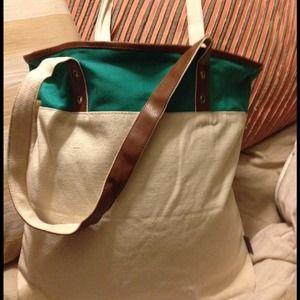 Color Block Large Tote Bag