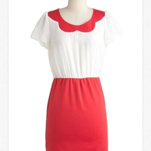 Modcloth- Red and White dress