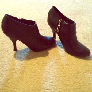BCBG black booties