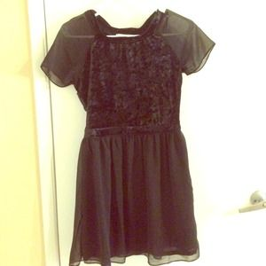 Black velvet detailed dress from Nasty Gal