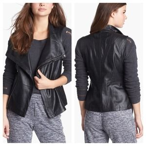 Perforated faux leather vest