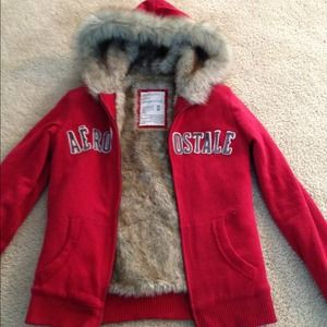 Red Aeropostale jacket.