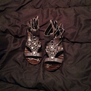 Dark grey Sam Edelman gladiator sandals