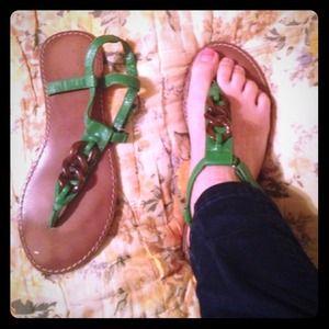 Green Gap sandals