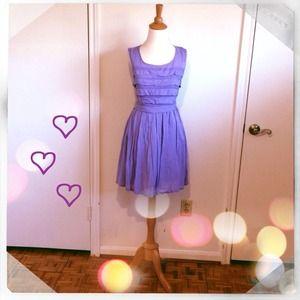Dresses & Skirts - Blue Chambray Pleated Bodice Dress