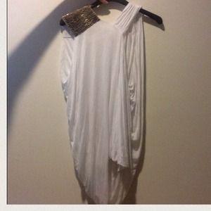 yigal azrouel Tops - White asymmetrical draped top