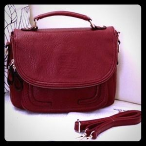 Handbags - NWOT Maroon crossbody purse
