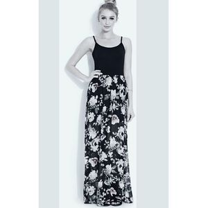 My Michelle Dresses & Skirts - Long Floral Maxi Skirt Black 11/12