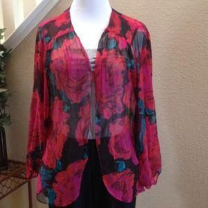 Tops - NWOT Floral Kimono