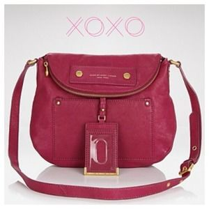 MBMJ Dark Pink Leather Bag