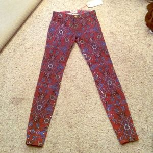 Current/Elliott printed skinny jeans