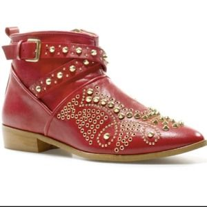 SALE! Editor Pick!!! Zara Red Leather Booties