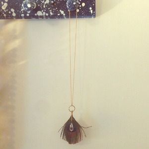 Reduced! Urban Outfitters Feather Necklace