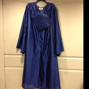 Oak Hall Other - Graduation Cap and Gown Royal Blue 🎓.